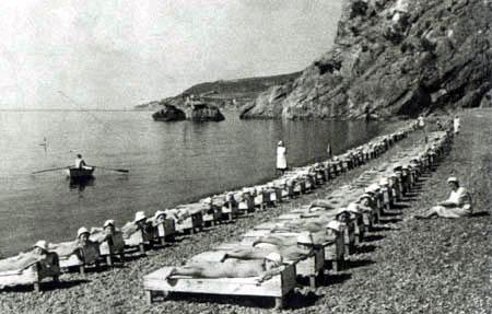 пионеры нагишом на пляже